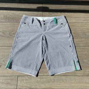 Lululemon Seersucker Bermuda Shorts